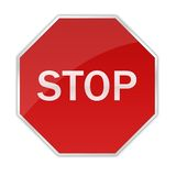 Glossy Stop Sign stock illustration