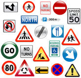 Glossy Street Signs. Set of glossy street signs Royalty Free Stock Photos