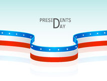 Glossy stripes for American Presidents Day celebration. Royalty Free Stock Photos