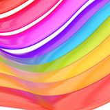 Glossy strips abstract background. Abstract background made of rainbow colored glossy strips Royalty Free Stock Image