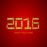 Glossy stylish text for Happy New Year 2016. stock illustration