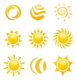 Glossy sun images Royalty Free Stock Photos