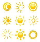 Glossy sun images Stock Image
