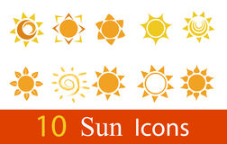 Glossy sun images Royalty Free Stock Images