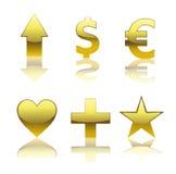 Glossy Symbols Royalty Free Stock Photos
