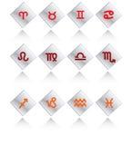 Glossy symbols of horoscope Stock Photo