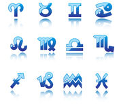 Glossy symbols of horoscope Royalty Free Stock Photos