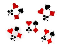Glossy symbols of playing cards 3d image Stock Photos