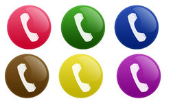 Glossy Telephone Button Stock Images