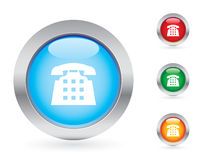Glossy telephone button set Stock Photography