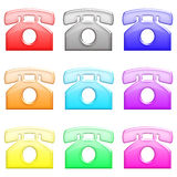 Glossy telephone set 1 Stock Images