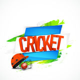 Glossy text for Cricket Sports concept. Stock Photography
