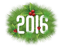 Glossy text for Happy New Year 2016. Stock Image