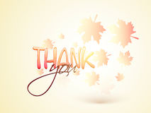 Glossy text for Thanksgiving Day celebration. Royalty Free Stock Images