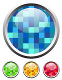 Glossy textured icons. Set of glossy textured icons in 4 colors Royalty Free Stock Photography