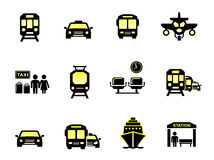 Glossy transport icons Stock Image