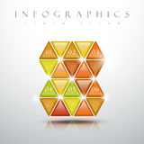 Glossy triangle graphic graphic infographic elements Royalty Free Stock Photos