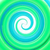 Glossy twirl, whorl as an abstract background. Glossy plastic green and blue twirl, whorl as an abstract background Royalty Free Stock Photo
