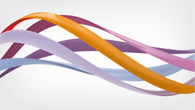 Glossy twisted wavy lines or graphic design Stock Images