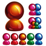 Glossy user icon, Stock Photography