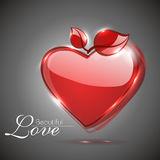 Glossy valentine red heart Royalty Free Stock Photography
