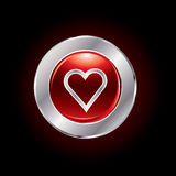 Glossy valentine's day button Royalty Free Stock Photo