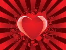 Glossy valentines heart background Stock Photos
