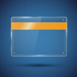 Glossy vector banner Stock Image