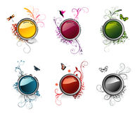 Glossy vector banners Stock Images