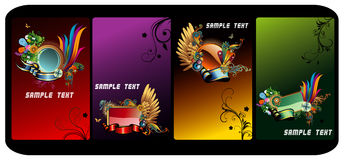 Glossy vector banners Royalty Free Stock Image