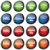 Glossy Vector Button Royalty Free Stock Photos