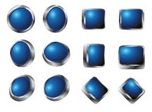 Glossy vector buttons Stock Photography