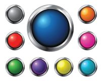 Glossy vector buttons royalty free stock photography