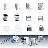 Glossy Vector Realistic Web & Computer Icons # 2. Set of Vector Realistic Objects Isolated On White Stock Illustration