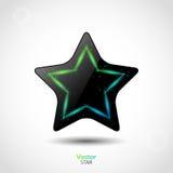 Glossy vector star Royalty Free Stock Photos