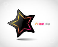 Glossy vector star Stock Photography