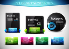 Glossy vector web boxes Stock Images