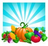 Glossy Vegetables on Bursting Background Royalty Free Stock Image
