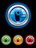Glossy video button vector illustration
