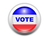 Glossy Vote Button Stock Photos