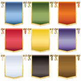 Glossy wall banners Royalty Free Stock Photography