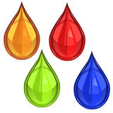 Glossy waterdrop or blood Royalty Free Stock Images