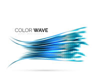 Glossy wave isolated on white background Stock Photo