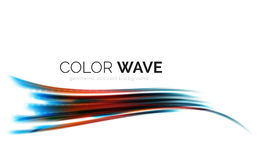 Glossy wave isolated on white background Stock Photography