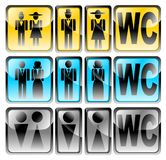 Glossy wc set vector. Color glossy wc set vector royalty free illustration