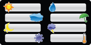 Glossy Weather Banners/Buttons Stock Photo