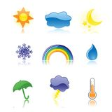 Glossy Weather Icons Stock Photos