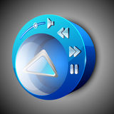 Glossy web 2.0 music icon Royalty Free Stock Images