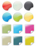 Glossy web 2.0 peel-off stickers Stock Image