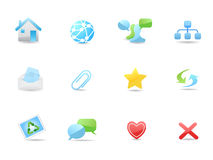 Glossy web and blog icons set Stock Photos